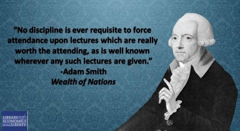 Adam Smith on Mandatory Lectures